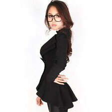 Vintage Power Shoulder Suit Women Slim Sexy Swallow-tail Coat Free Shipping