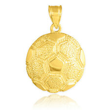 Gold Textured Futbol Soccer Ball Champions World Cup Pendant