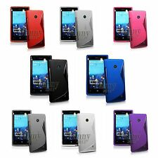 Gel Rubber TPU Silicone Skin Cover with S-Line Case for Nokia Lumia 520,525