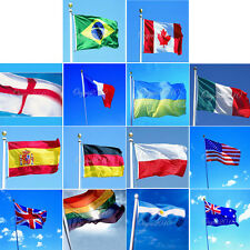 3'x5' Outdoor Indoor Country Banner National Flag Pennants 3x5 feet USA Canada