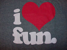 "I ""Heart"" Fun T-Shirt BRAND NEW  ULTRA SOFT TEE  NEW WITH TAGS"