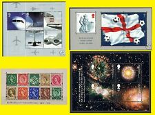 2002 Miniature Sheet Issues MS2289, MS2292, MS2315 & MS2326 Mnh