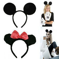 Halloween Fancy Dress Up Costume Mickey and Minie Mouse Ears Headband Party Gift