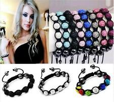 New hot Stylish Shamballa Bracelet 10mm CZ Crystal 7 Disco Clay Balls friendship