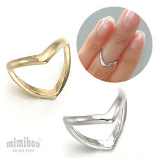 The front & The Back Side V Chevron Midi Tip Finger Above The Knuckle Band Ring