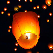 5/20/50 Chinese Fire Sky Lanterns Floating Wish Party Wedding Birthday w/ Fuel