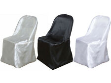10 pcs SATIN FOLDING CHAIR COVERS Wedding Party Catering Decorations on SALE