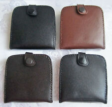 square Leather Gents Men Coin Change Tray Wallet Purse Pouch + notes flap pocket