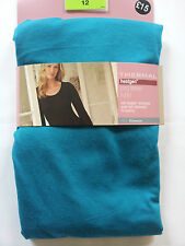NEW MARKS AND SPENCERS HEAT GENERATING THERMAL LONG SLEEVE T-SHIRT  TURQUOISE