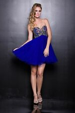 Fun Short Dress Colorful Sequins Gems Sparkle Bodice Cute Sassy Hot Dance Prom
