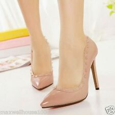 2013 New Women's High Heels Pointed Toe Stilettos Pump Shoes Rivets Decorate 1o3