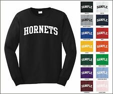 Hornets College Letter Team Name Long Sleeve Jersey T-shirt
