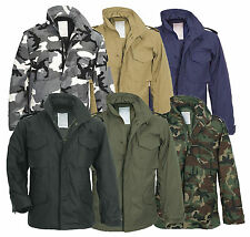 Men's M65 US Field Military Jacket Combat Army Quilted Parka Liner Work Coat