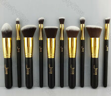 Pro Cosmetic Stipple Powder Blush Foundation Brush Makeup Tool With Free Puff