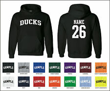 Ducks Custom Personalized Name & Number Adult Jersey Hooded Sweatshirt