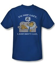Garfield Comic Cat I'm Not Lazy I Just Don't Care Licensed Tee Shirt Adult S-3XL