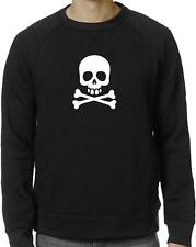 Nw For Men's Printed SKULL Funny Hipster Rock & Roll Fleece Long Sleeves T-SHIRT