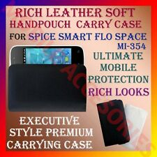 RICH LEATHER SOFT CARRY CASE SPICE SMART FLO SPACE MI-354 MOBILE HANDPOUCH COVER