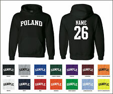 Country of Poland Custom Personalized Name & Number Jersey Hooded Sweatshirt
