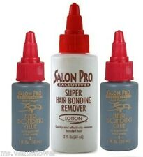 2 x Salon Pro Hair Extension Bonding 1 oz Glue & Remover kit