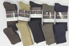 UNHEARDOFDEAL MEN'S MERSERICED COTTON OVER THE CALF TRUE RIB DRESS SOCKS M7052
