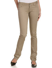 DICKIES GIRL KHAKI STRETCH SKINNY PANTS JUNIORS 5 POCKET BOTTOM SIZES 0 to 15