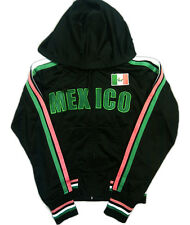 NEW Mexican Football Mexico Futbol Juniors Girls Soccer Track Jacket AS-IS Black
