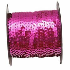 One Roll Shiny Plastic Sequin Paillette Cord For Clothing Accessories 9 Colors