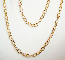 "18k yellow gold thick diamond cut cable chain(18""/3gr)"