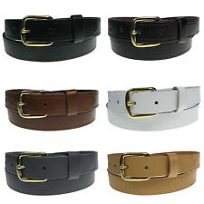 "New Genuine Full Grain Mens Leather Belt 1"" wide sizes 28""-44"" Made in the UK"