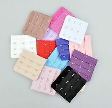 12 Colors 3 Hook Women SOFT BRA BACK Band EXTENDERs for Breast 3 or 6 PCS
