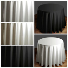"""90"""" Round HIGH QUALITY Polyester TABLECLOTH Wedding Party Dinner Table Linens"""