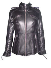 Woman Tall & All Size  4205 Custom Leather Motorcycle Jackets Ladies Genuine Lam