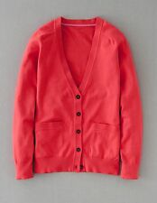 Boden Women's Brand New Favourite V-neck Cardigan Sweater Sunset Red