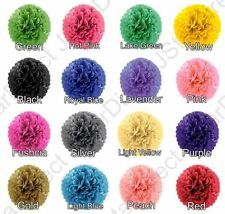 "5PC Tissue Paper Pom-Poms  8"" 10"" 15""  Flower Wedding Party Home Outdoor Decor"