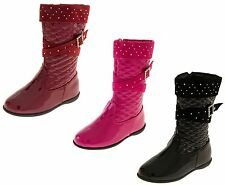 Girls Kids Boots Party Evening Disco Low Heel Fashion Comfortable Casual Formal