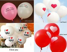 "Quality 12"" Love Heart Air & Helium Latex Balloons Xmas Wedding Party Decor"