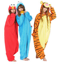 2013 NEW Adult Sesame Street Elmo/cookie monster/tigger Costume pajamas dress