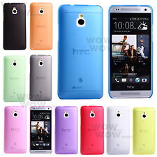 Ultra-thin 0.5mm Transparent Matte Shell Cover Case For HTC One Mini M4 10 color
