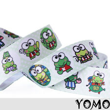 "1""25mm Smart Frog Boy/Gir Printed Grosgrain Ribbon 10/50 Yards Hairbow Wholesale"