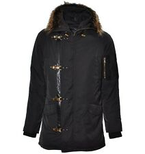 ROBERTO CAVALLI Fur Winter Jacket Black Veste Noir 01164