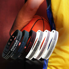 Power Ionics 2000ions/cc Titanium Sports Baseball Golf Wristband Bracelet PT001