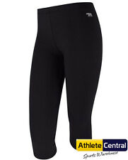 RUNNING BARE 3/4 TIGHT BLACK WOMENS SPORTS GYM WEAR POLY/COTTON/LYCRA  TIGHTS