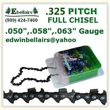 "CHAINSAW CHAIN .325"" .050 .058 .063 Full Chisel husqvarna stihl jonsered echo"