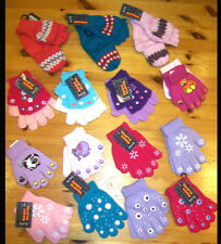 GIRLS COMBO MITTS, 2-1 GLOVES - MAGIC GLOVES ANIMAL STARS FLOWERS SNOWFLAKES ETC