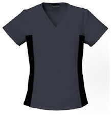 Cherokee Flexibles Pewter Gray V Neck Scrub Top 2874 Buy 2+ Ship $4 NWT