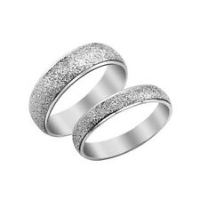 2PC Love Stainless Steel Couple Rings Promise Wedding finger set Band