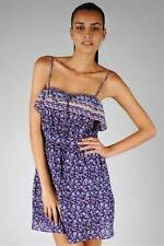 Just Add Sugar Womens Dress Wild Flower Purple Sleeveless Pleated Bandeau