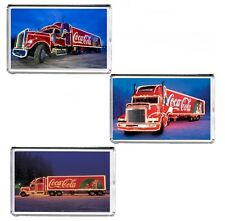 Coca Cola Christmas Truck Large Fridge Magnet Pic Size 70mm x 45mm