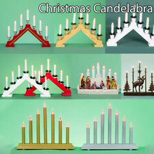 Candelabra Christmas Xmas Candle Arch Bridge Light Decoration